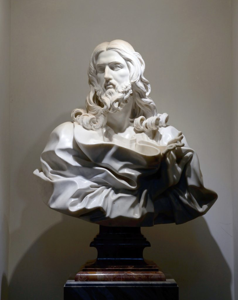Bernini, Bust of the Savior, San Sebastiano fuori le mura, Rome (photo: Charles Scribner III)