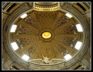 Bernini, Church of Sant'Andrea al Quirinale, oculus above main altar (photo: F. Mormando)