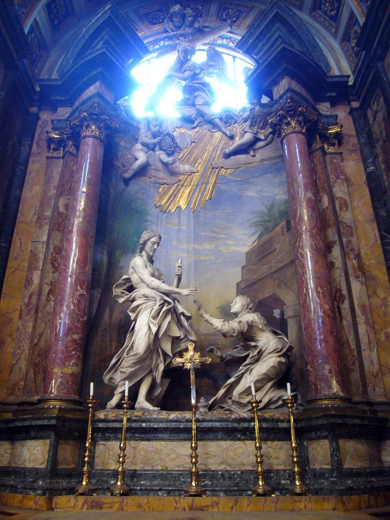 "Antonio Raggi, ""Noli me tangere,"" Rome, Church of Santi Domenico e Sisto (photo: wikimedia)"