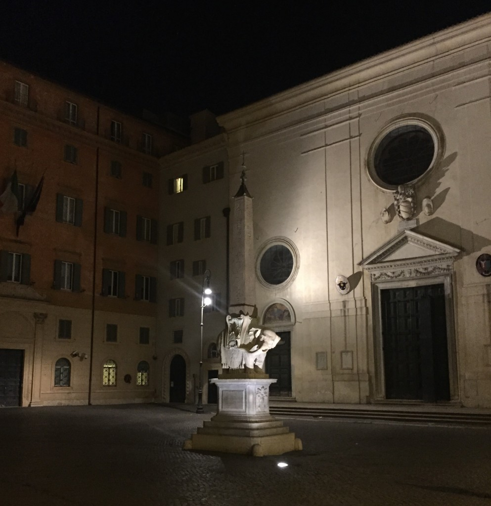 Bernini Elephant Night