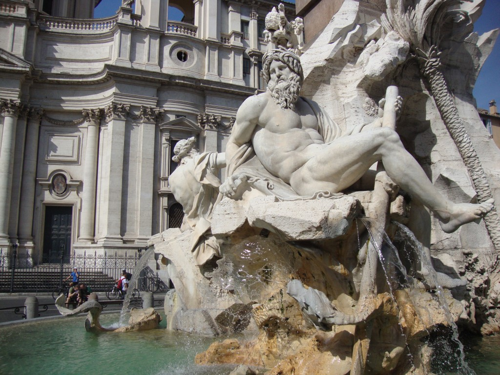 Bernini: Fountain of the Four Rivers, Piazza Navona (photo: F. Mormando)