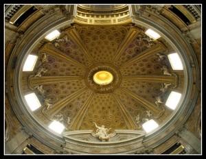 Bernini, Church of Sant'Andrea al Quirinale, oculus above main altar (photo: F. Mormando)