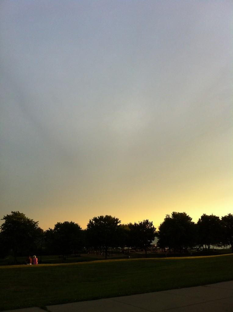 A Boston Sunset (Castle Island); photo: F. Mormando